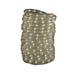 120 Volt Led String Lights : Rope Light; Clear LED; 120 Volt AC; 18 Foot Length; Waterproof; Use Indoors/ Outdoors ...