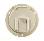 Access Door 4.6 Inch x 2.6 Inch Low Profile Round Accepts Up To 50 Amp Cords