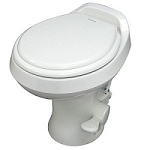 Dometic 300 Light Weight Low Profile White RV Toilet w/ Hand Spray