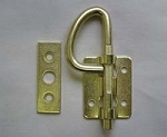 RV Bunk Latch Bright Brass with Strike
