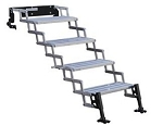 Entry Step 4 Manual Folding Steps: 22 Inch Length x 8 Inch Width and 7-1/2 Inch Rise 350 Pound Capacity Silver Aluminum Step