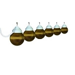 RV Globe Lights, Bronze 6 pack