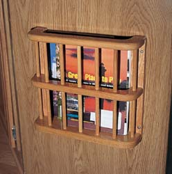Camco Oak Magazine Rack
