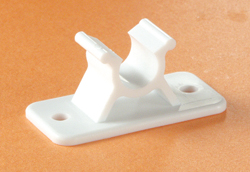 Entry Door Holder Clip White 3 inch