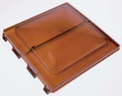 Jensen Old Style Vent Replacement Lid, Pin Hinge, Amber