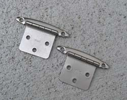 Flush Mount Hinges Brushed Nickel