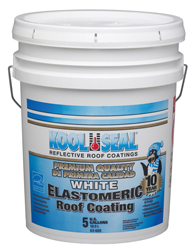 White Elastomeric Roof Coating 5 Gallon