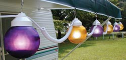 Rv Globe Lights Purple\Yellow