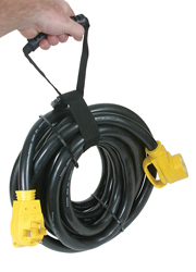 50 AMP Extension Cord - 30' W/ Power Grip And Carry Sling