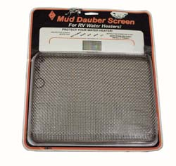 Mud Dauber Water Heater Screen
