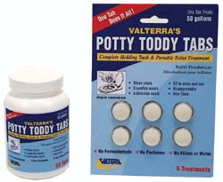 Potty Toddy Tabs, 6 Tabs/card