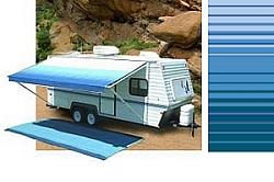 Rv Awning Vinyl Canopy Replacement 19 Ft Ocean Blue
