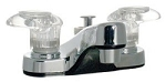 RV Two Handle Lavatory Diverter, Chrome
