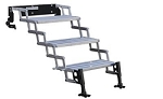 Entry Step 3 Manual Folding Steps 22 Inch Length x 8 Inch Width and 7-1/2 Inch Rise 350 Pound Capacity Silver Aluminum Step