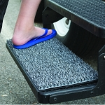 Entry Step Rug, Sand Away, Fits All 10-3/8 Inch x 22 Inch Rectangular Stow-Away Steps, Charcoal