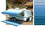 Rv Awning Vinyl Canopy Replacement, 18 ft, Ocean Blue