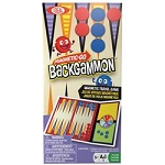 Poof Slinky Magnetic-Go Backgammon Game Board Game With 30 Piece And Plastic Spinner