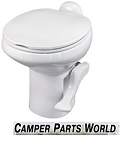 RV Toilet - Aqua Magic Style II China Toilet, High Profile w/out Water Saver