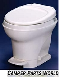 Rv Toilet - Thetford High Profile Hand Flush w/Water Saver, Parchment