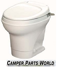 Rv Toilet - Thetford High Profile Hand Flush, Parchment