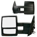 Tow Mirror Set of Two, Black,  Width (IN): 6-1/4 Inch ,8 Inch High