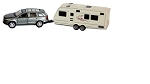 SUV and Trailer Die-Cast Collectible