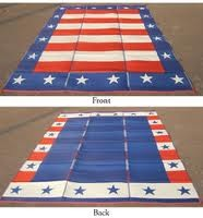 Reversible Patio Mat, 8 x 20, Patriotic