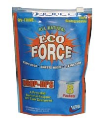 RV Holding Tank Treatment- RV-Trine, Eco-Force Toss Ins, 8/Bag