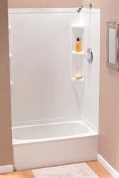 "Rv Tub/Shower Surround, 40"" x 24"" x 56"", White"