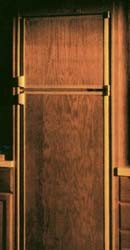 RV Dometic Oak Refrigerator Door Panel