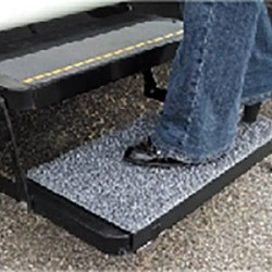 Step Stool Mat, Fits 11 Inch x 22 Inch Rectangular Stow-Away Steps, Charcoal