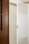Stoett Industries Retractable Shower Door Frosted Panel  57