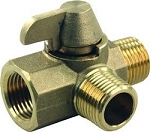 JR Products 1/2 Inch MPT x 1/2 Inch MPT x 1/2 Inch FPT Brass Bypass Kit