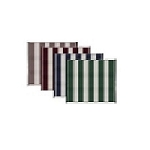 Reversible Stripe Awning Leisure Mat, Green 6'x9'