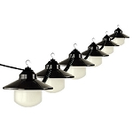 6 Light White Shaded RV Globe Lights
