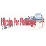 I Brake For Flamingos Decal 5