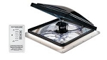 FanTastic Camper Fan Roof Vent 6600-12 Volt- With Remote Control, Smoke
