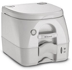 Dometic Portable 5 Gallon Gray Toilet W/ Stainless Hold Downs