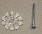 RV Plastic Rosettes Clear