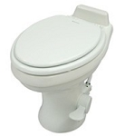 Dometic 320 302321781 Low Profile Ceramic White Toilet with Hand Spray