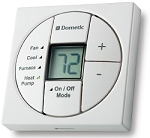 Dometic RV Air Conditioner Single Zone LCD Thermostat and Control Kit Polar White
