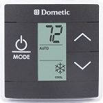 Dometic Single Zone RV AC Thermostat, Black