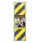 Anti-Slip Safety Grit StripYellow\Black 6 inch x 21 inch