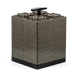 Camco 44521- Leveling Block Brown; Set of 10