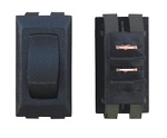 Momentary On/Off Switch, Black, 1/Card