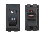 Labeled On/Off Switch, Black, 3/Bag