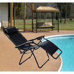 Camping Lounge Chair- Del Mar- Black