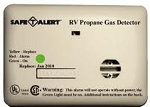 RV Mini LP Gas Detector Almond