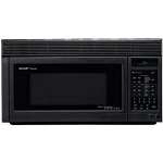 SHARP 1.1 CU FT CONVECTION MICROWAVE HOOD-BLACK