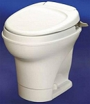Thetford Aqua-Magic Hand Flush High Profile Rv Toilet Parchment